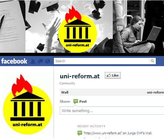 Quelle: uni-reform.at und facebook.com