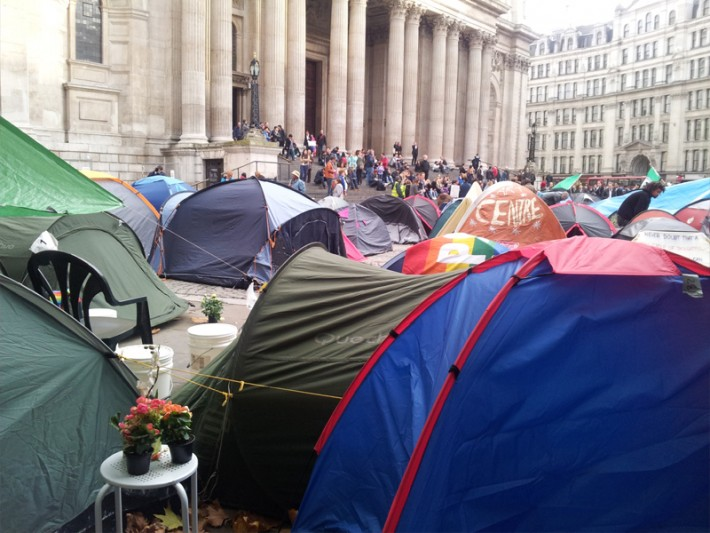 """We're like a mushroom"" – Eindrücke vom Occupy London (CC) Judith Schossböck"