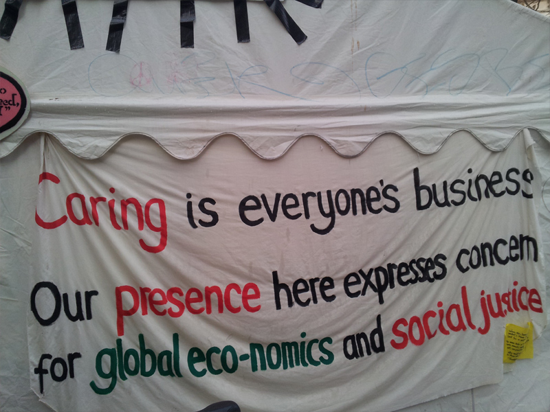 """We're like a mushroom"" – Eindrücke vom Occupy London Camp"