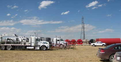 View of Frac site