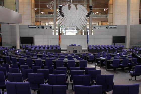 Plenarsaal des Deutschen Bundestags (Foto: Stefan Kemmerling)